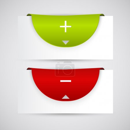Illustration pour Ensemble d'étiquettes de balises multicolores. Illustration vectorielle eps10 - image libre de droit