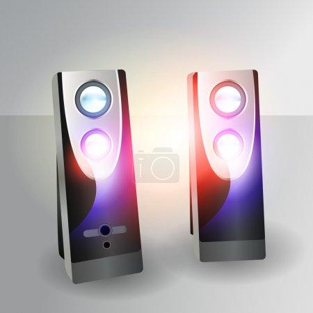 Vector loudspeaker vector illustration
