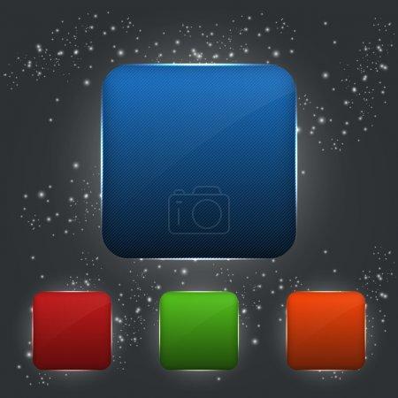 Illustration pour Ensemble de boutons vectoriels - image libre de droit