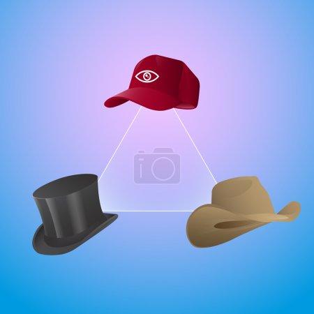Vector set of hats.