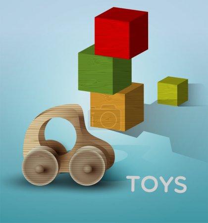 Vector toys illustration, vector  illustration