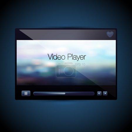 Vector video movie media player skin