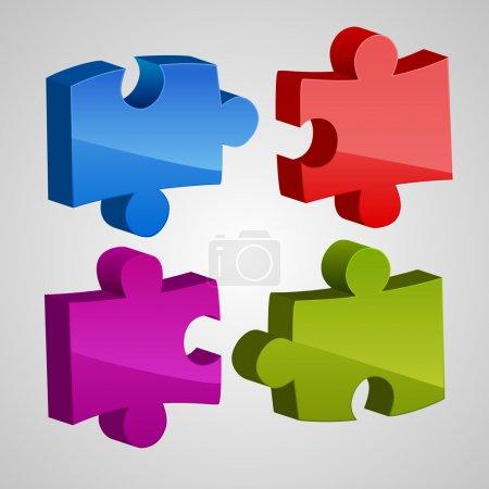 Farbige Rätsel. Vektorillustration
