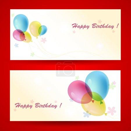 Illustration pour Cartes de vœux d'anniversaire, illustration vectorielle - image libre de droit