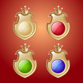 Vector set of shields buttons