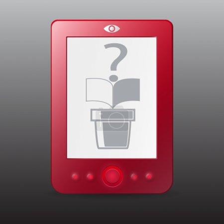 red E-Reader. Vektorillustration.