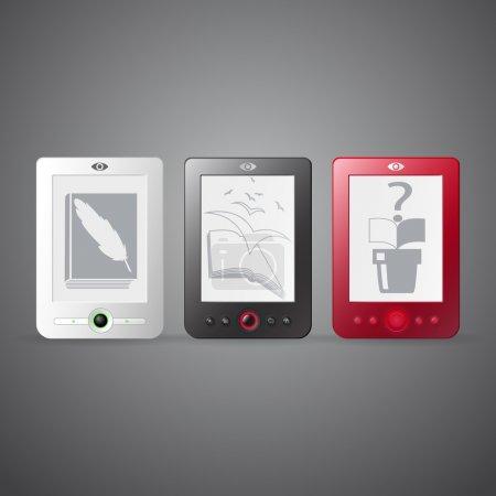 Vektor-Set von E-Readern.