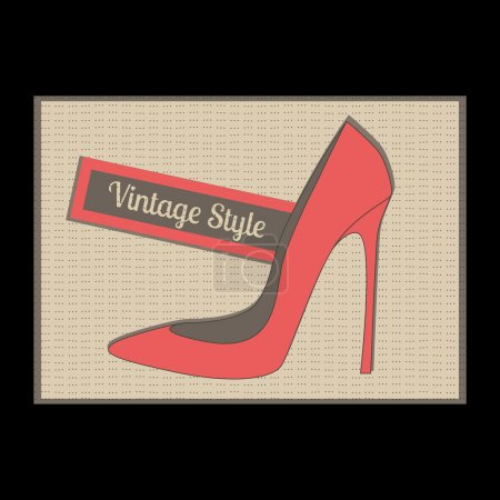 Fashion women's high heel shoes, vector