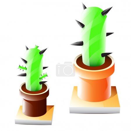 Illustration pour Illustration vectorielle du cactus vectoriel - image libre de droit