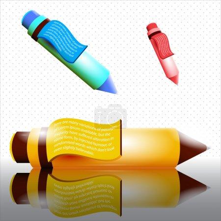 Set of vector pens