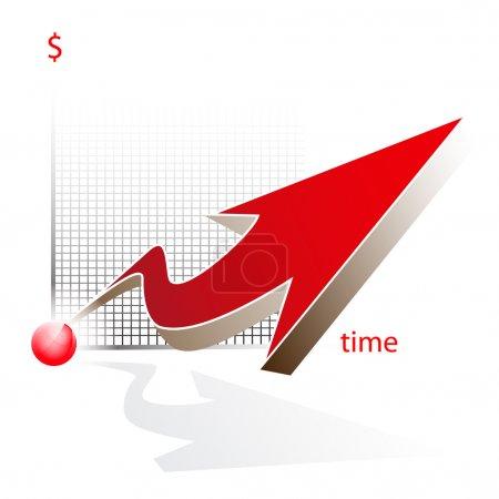 Modern 3d vector graph icon