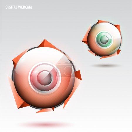 Digital webcam,  vector illustration
