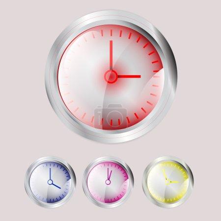 Illustration pour Ensemble d'horloges vectorielles - image libre de droit