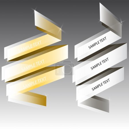 Illustration for Silver, golden board vector illustration - Royalty Free Image
