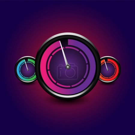 Set of vector speedometers