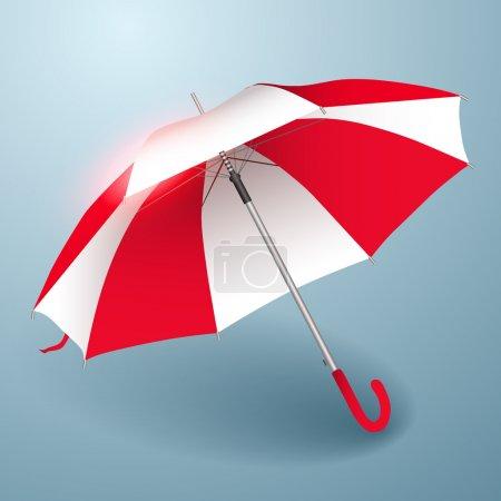 Illustration pour Parapluie vectoriel. Rouge et blanc . - image libre de droit