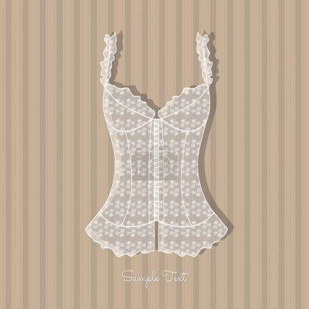 Illustration pour Fond vintage avec corset de dame - image libre de droit