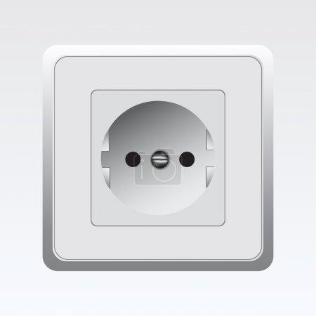 white Socket,  vector illustration