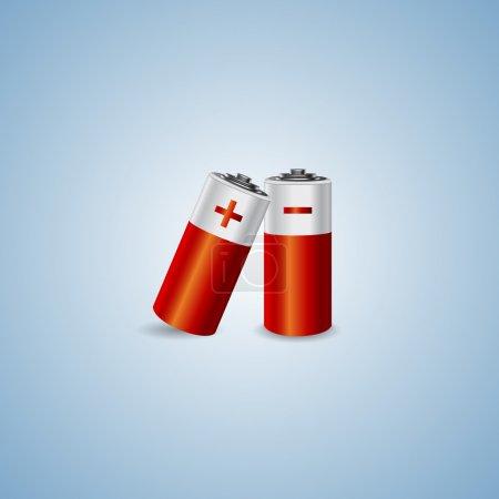 Illustration pour Illustration vectorielle de deux piles . - image libre de droit