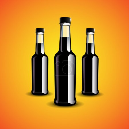 Illustration pour Illustration vectorielle de bouteilles noires . - image libre de droit