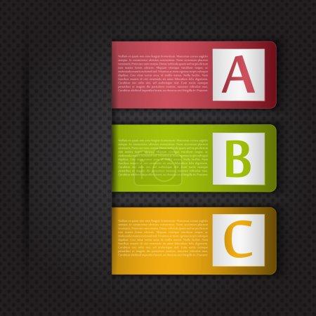 Illustration pour A B C Options Étiquettes vectorielles - image libre de droit