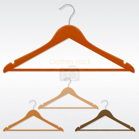 Coat hanger. Vector illustration