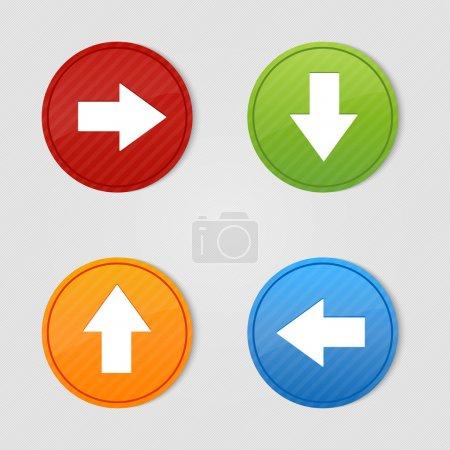 4 colored arrow sign vector