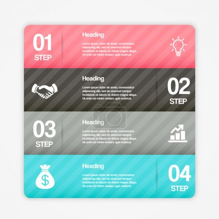 Illustration for Modern Step By Step Web Elements. Vector Design Infographics - Royalty Free Image