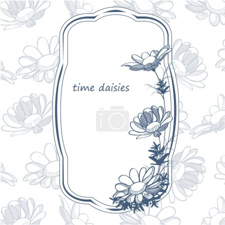 Floral frame with flower.