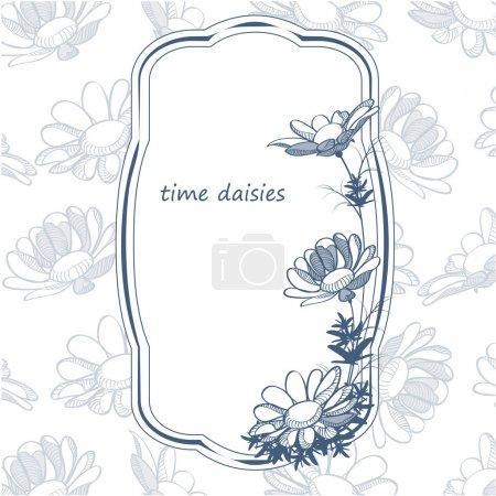 Photo pour Cadre floral avec fleur . - image libre de droit