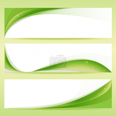 Illustration for Vector set of green banners. - Royalty Free Image