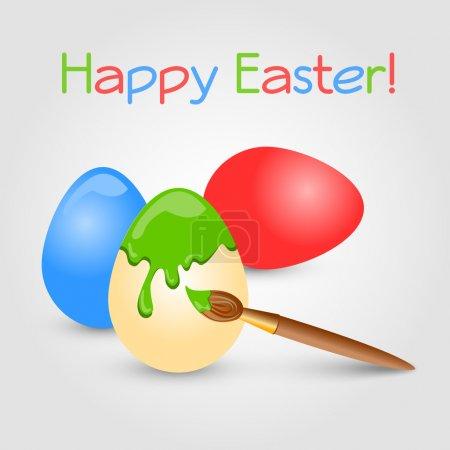 Photo pour Fond vectoriel avec des œufs de Pâques . - image libre de droit