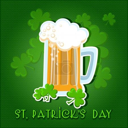 Illustration pour St Patricks fond de journée avec bière . - image libre de droit