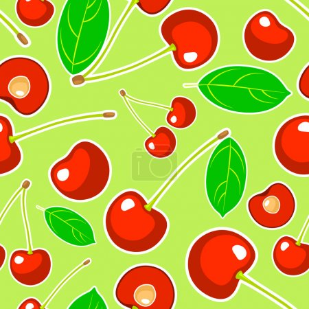 Vector background with cherry.