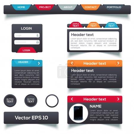 Elementos web. Ilustración vectorial
