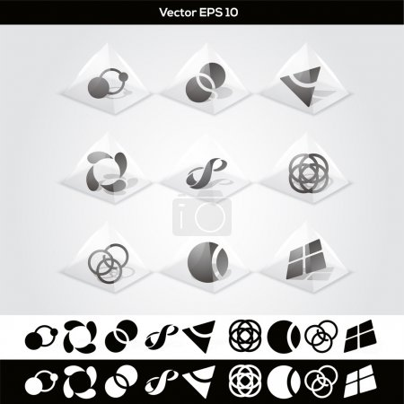 Illustration for Vector abstract buttons. vector illustration - Royalty Free Image