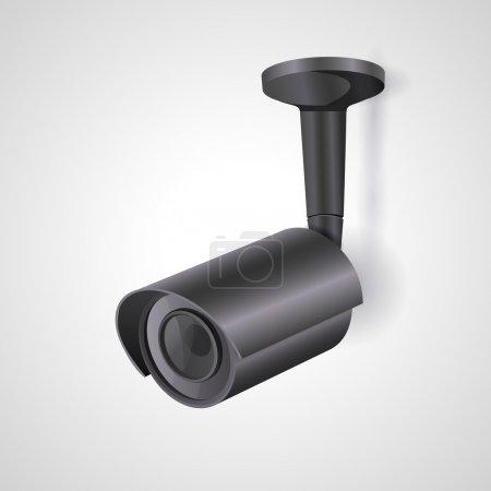 vector illustration of a surveillance camera.