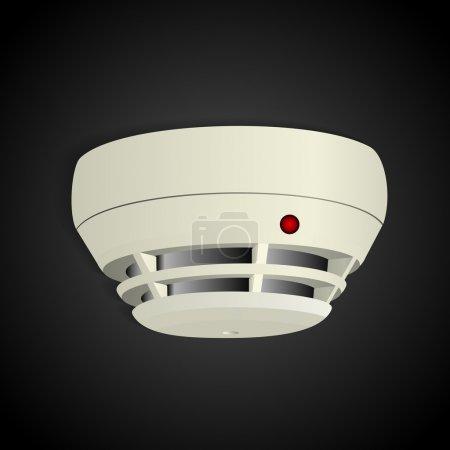 Illustration pour Illustration vectorielle du détecteur de fumée . - image libre de droit