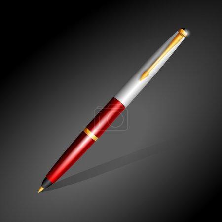 Illustration pour Un stylo rouge. Illustration vectorielle - image libre de droit