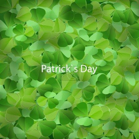 Illustration pour St. fond de journée de Patrick. - image libre de droit