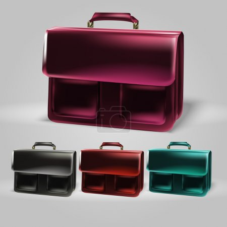 Vector briefcase set vector illustration