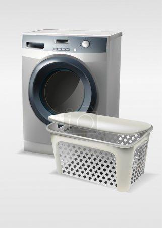 Washing machine with basket