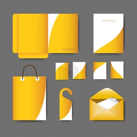 Illustration pour Papeterie design set vectoriel illustration - image libre de droit