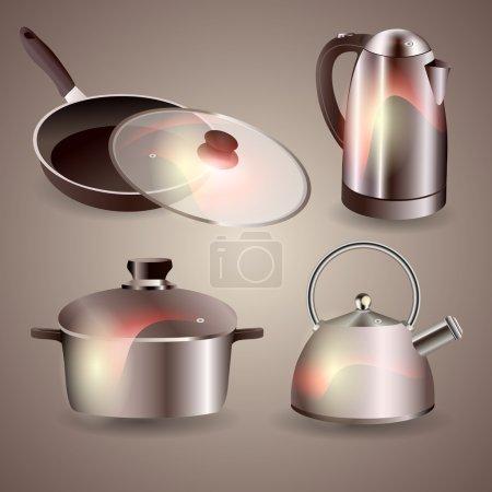 Set of kitchen ware