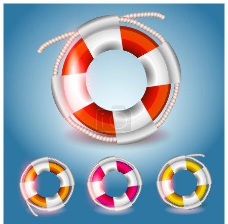 Illustration pour Bouées de sauvetage vectorielles illustration vectorielle - image libre de droit