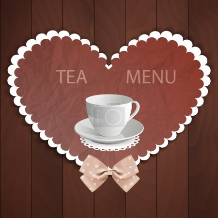 Vector cup of tea with heart