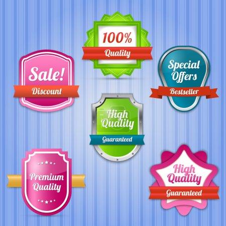 Illustration pour Ensemble vectoriel d'étiquettes à vendre. - image libre de droit