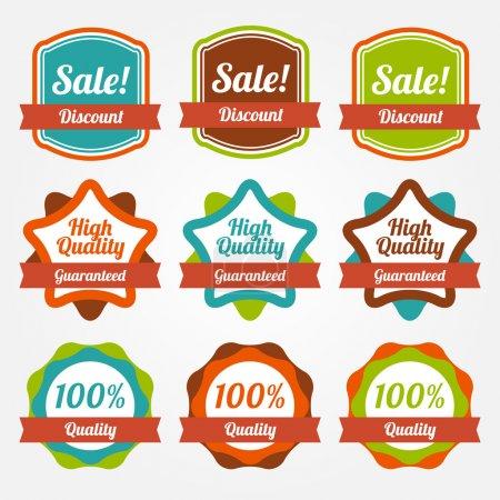 Vector set of vintage labels for sale.