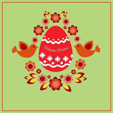 Easter greeting card. Vector illustration.
