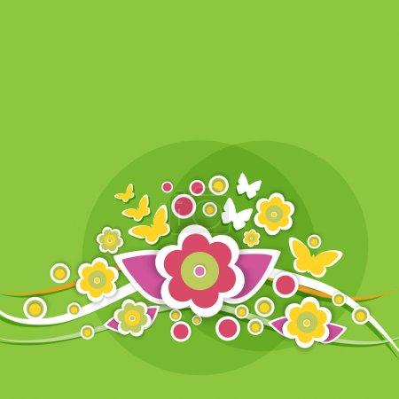 Spring floral background. vector illustration